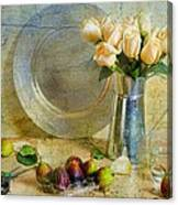 Roses With Figs Canvas Print