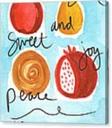 Rosh Hashanah Blessings Canvas Print