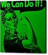 Rosie In Green Canvas Print