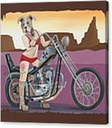 Rosie's Chopper Canvas Print