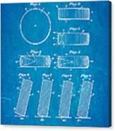 Ross Ice Hockey Puck Patent Art 1940 Blueprint Canvas Print