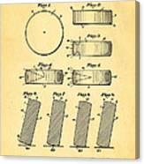 Ross Ice Hockey Puck Patent Art 1940 Canvas Print