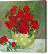 Rosses R Red Canvas Print