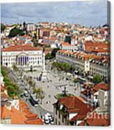 Rossio Square Canvas Print