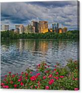 Rosslyn Virginia Sunset From Across The Potomac River Canvas Print