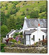 Rosthwaite In The Valley Of Borrowdale Lake District Canvas Print