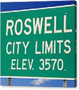 Roswell New Mexico Canvas Print