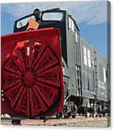 Rotary Snow Thrower 99201 In The Colorado Railroad Museum Canvas Print