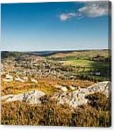 Rothbury Town From The Terraces Canvas Print
