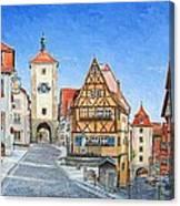 Rothenburg Germany Canvas Print