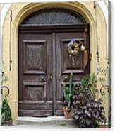 Rothenburg Ob Der Tauber Door  Canvas Print
