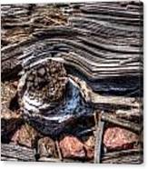 Rotted Railroad Tie Canvas Print