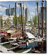 Rotterdam City Marina Canvas Print