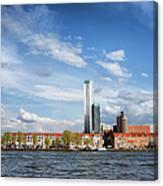 Rotterdam Skyline In Netherlands Canvas Print