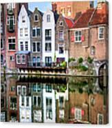 Rotterdams Delfshaven With His Historic Canvas Print
