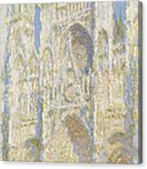 Rouen Cathedral West Facade Canvas Print