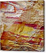 Rough And Red Rock In Petra-jordan  Canvas Print