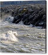 Rough Day On The Lake Canvas Print