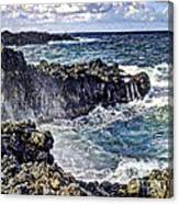 Rough Rocks Near Hana Canvas Print