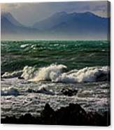 Rough Seas Kaikoura New Zealand Canvas Print