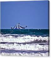 Rough Seas Shrimping Canvas Print