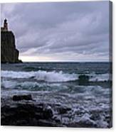 Rough Surf At Split Rock Canvas Print