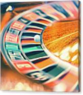 Roulette Wheel In Motion Canvas Print