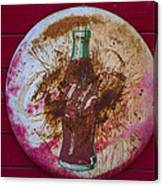 Round Coke Sign Canvas Print