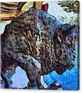 Round Up Market Buffalo Canvas Print