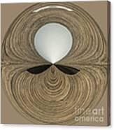 Round Wood Canvas Print