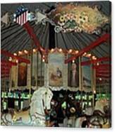 Rounding Board Slater Park Carousel Canvas Print