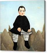 Rousseau's Boy On The Rocks Canvas Print