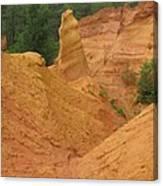 Roussillon Ochres Pigments Rock Canvas Print