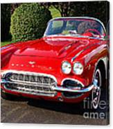 Route 66 - 1961 Corvette Canvas Print