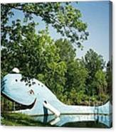 Route 66 Blue Whale Waterpark Canvas Print