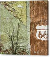 Route 66 Brick And Mortar Canvas Print