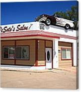 Route 66 - Desoto's Salon Canvas Print