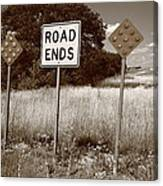 Route 66 - End Of The Road Canvas Print