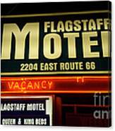 Route 66 Flagstaff Motel Canvas Print