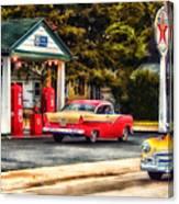 Route 66 Historic Texaco Gas Station Canvas Print