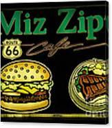 Route 66 Miz Zips Canvas Print