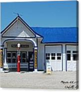 Route 66 Odell Il Gas Station 01 Canvas Print