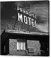 Route 66 - Paradise Motel 2 Canvas Print