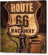 Route 66 Raceway Canvas Print