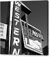 Route 66 - Western Motel 7 Canvas Print