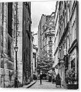Route Parisian Canvas Print