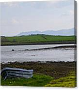 Row Boat At Low Tide - County Mayo Ireland Canvas Print