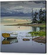Row Boat By Mount Desert Island Canvas Print