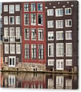 Row Houses In Amsterdam Canvas Print