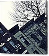 Row Houses In Washington Heights Canvas Print